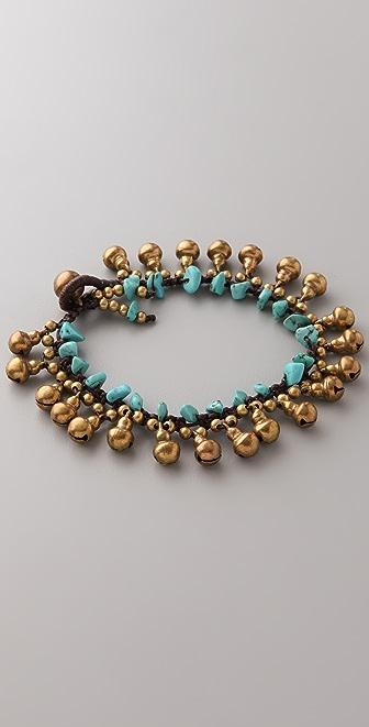 JADEtribe Bell & Stone Beaded Bracelet