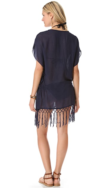 JADEtribe Elastic Poncho with Fringe