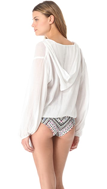 JADEtribe Capuche Cover Up Top