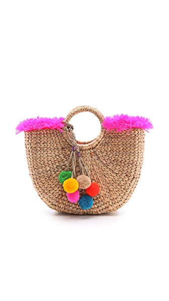 JADEtribe Fringed Beach Basket Bag | 15% off first app purchase ...