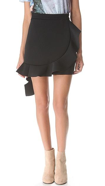 J.W. Anderson Neoprene Ruffle Skirt
