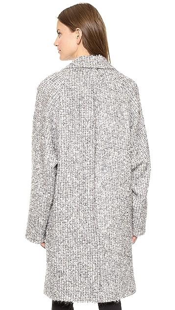 J.W. Anderson Boucle Raglan Sleeve Coat