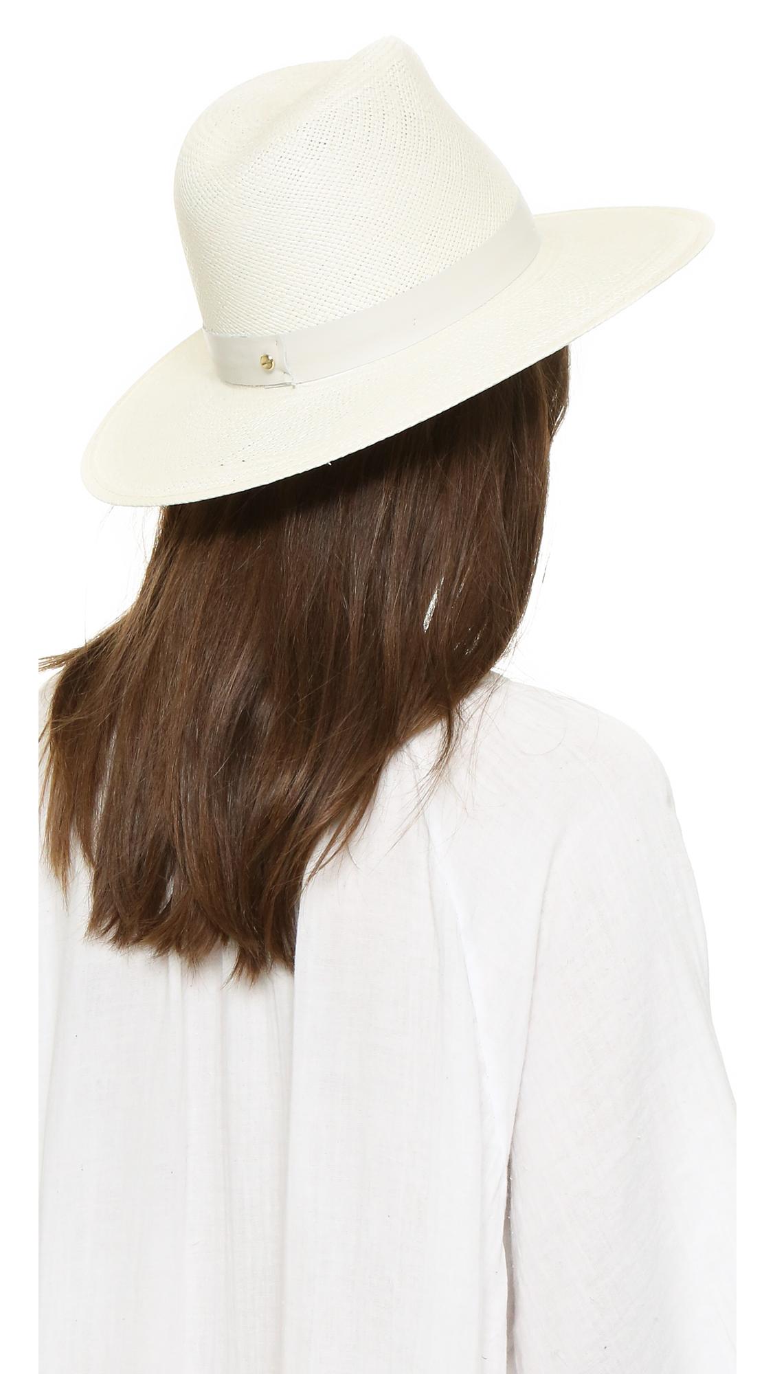 Janessa Leone Aisley Short Brimmed Panama Hat  aea27af1768