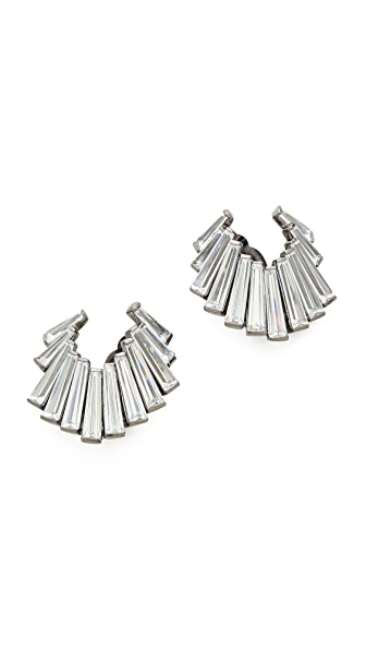 Jarin K Fishtail Baguette Crescent Earrings