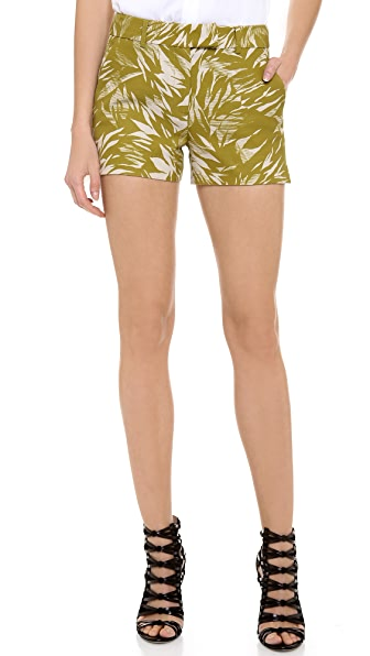 Jason Wu Botanical Linen Crepe Shorts
