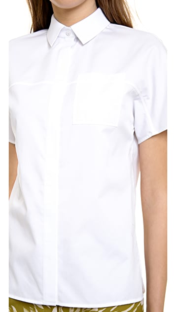 Jason Wu Short Sleeve Button Shirt