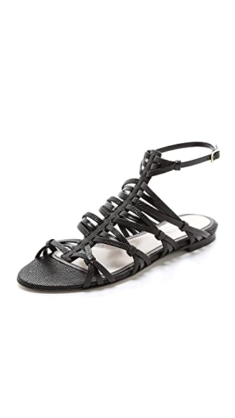 Jason Wu Leather & Suede Flat Sandals