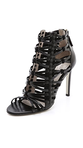 Jason Wu Leather & Suede Woven Sandals