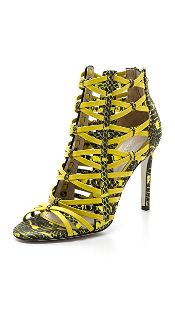 Jason Wu Snake Print Strappy Sandals