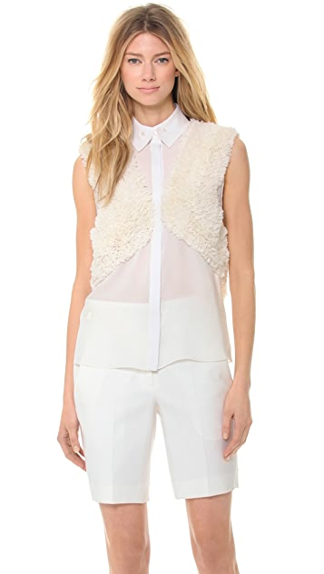 Jason Wu Silk Ruffle Shirt