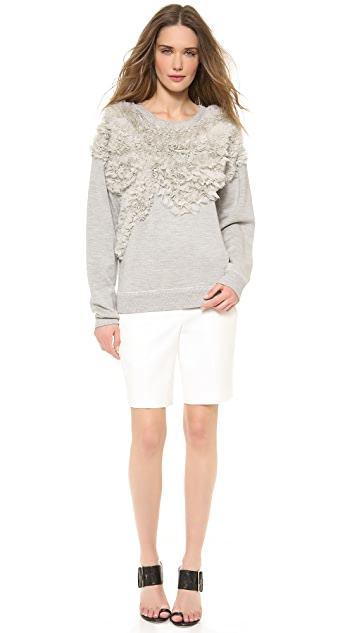 Jason Wu Chiffon Embroided Sweatshirt