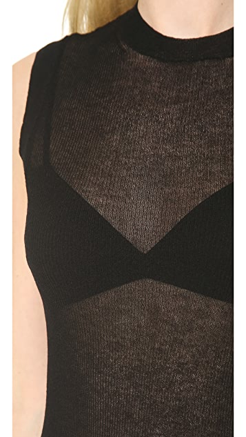 Jason Wu Sheer Rib Knit Sleeveless Pullover