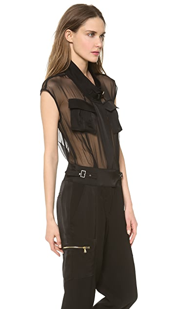 Jason Wu Satin Backed Utility Jumpsuit