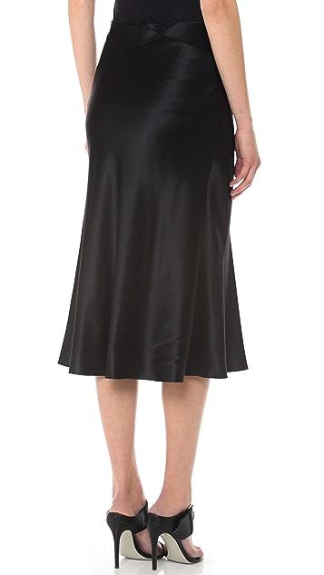 Jason Wu Silk Charmeuse Bias Cut Skirt