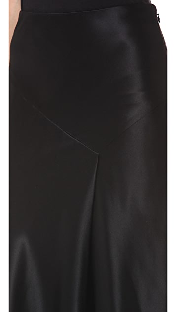 Jason Wu Silk Charmeuse Bias Cut Skirt