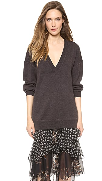 Jason Wu Oversized V Neck Sweater