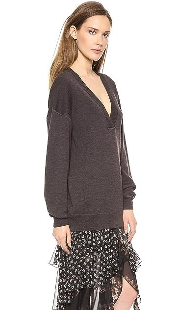 Jason Wu Oversized V Neck Sweater