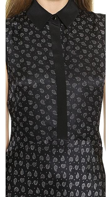 Jason Wu Silk Bias Hem Shirtdress