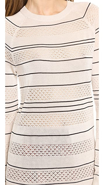 Jason Wu Striped Pointelle Pullover