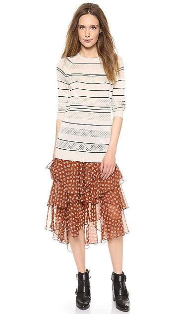 Jason Wu Paisley Cascade Skirt