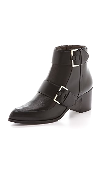 Jason Wu Leather Buckle Booties