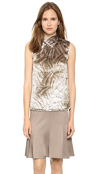 Jason Wu Tie Bar Mock Neck Shell