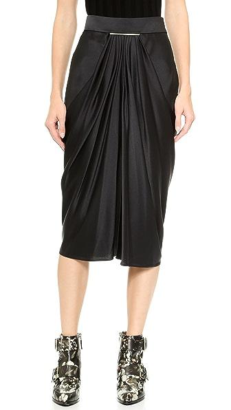 Jason Wu Satin Tie Bar Skirt
