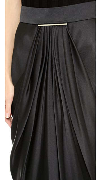 Jason Wu Satin Tie Bar Skirt
