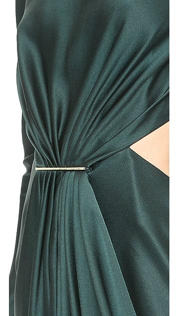 Jason Wu Tie Bar Cutout Dress