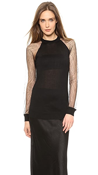 Jason Wu Cashmere Sweater with Lace