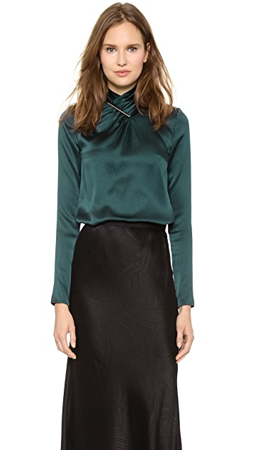 Jason Wu Tie Bar Blouse