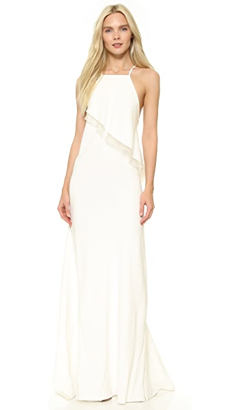 Jason Wu Stretch Cady Bias Ruffle Gown