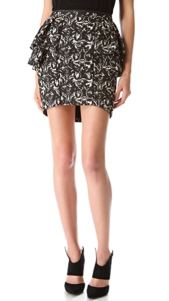 Jay Ahr Paisley Tiered Skirt