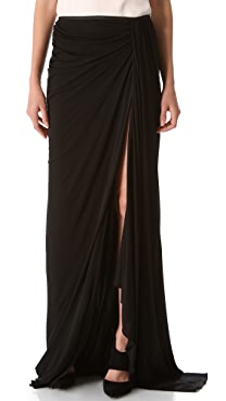 Jay Ahr Long Draped Skirt
