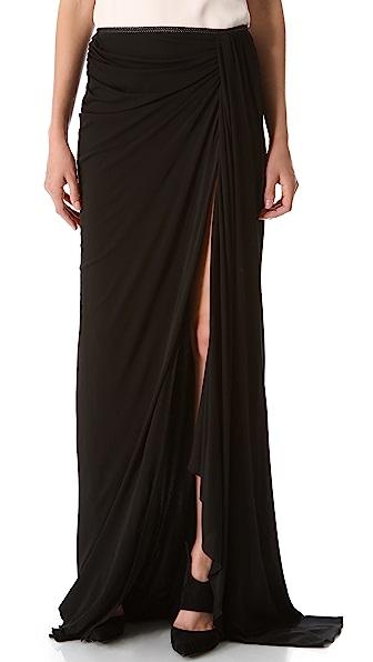 Jay Ahr Long Draped Skirt