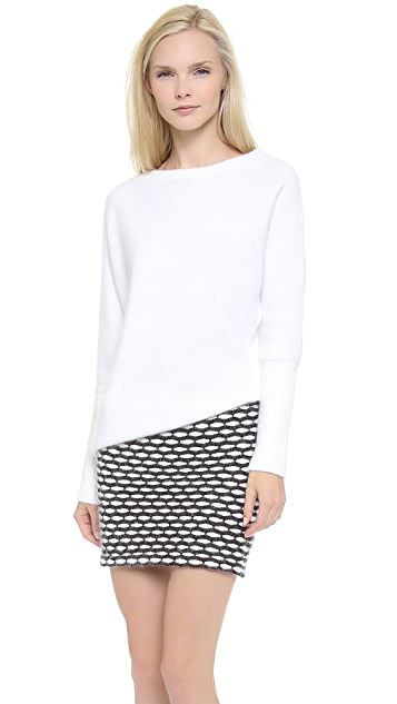 Jay Ahr Asymmetrical Sweater Dress