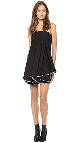 Jay Ahr Strapless Babydoll Dress