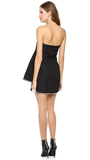 Jay Ahr Strapless Babydoll Dress