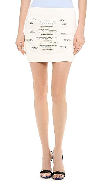Jay Ahr Crystal Miniskirt