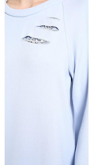 Jay Ahr Crystal Slashed Sweatshirt