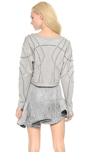 Jay Ahr Dorian Cropped Pullover