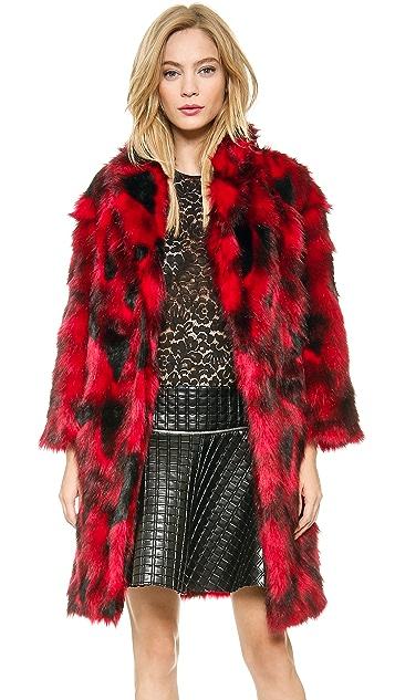 Jay Ahr Faux Fur Coat
