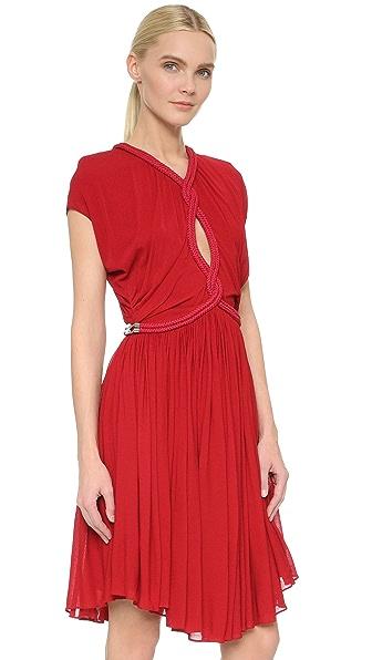 Jay Ahr Twist Cap Sleeve Dress