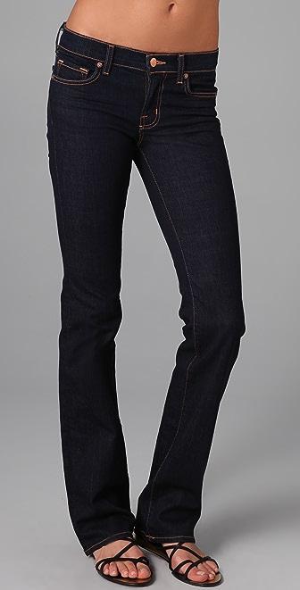 "J Brand Mid Rise 16"" Straight Leg Jeans"
