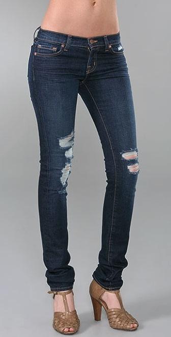 "J Brand 12"" Pencil Leg Ripped Jeans"