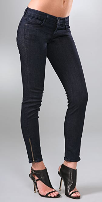 "J Brand 10"" Ankle Skinny Jeans with Zippers"