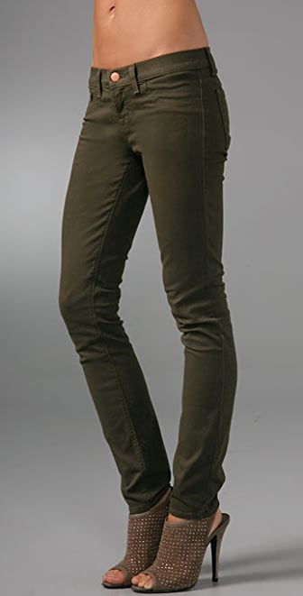 "J Brand 10"" Twill Ankle Skinny Pants"