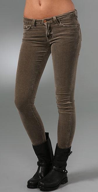 J Brand Corduroy Mid Rise Skinny Pants