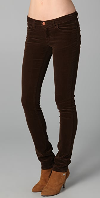 "J Brand Corduroy 12"" Pencil Leg Pants"