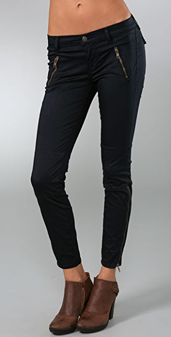 J Brand Sateen Agnes Zipper Pants